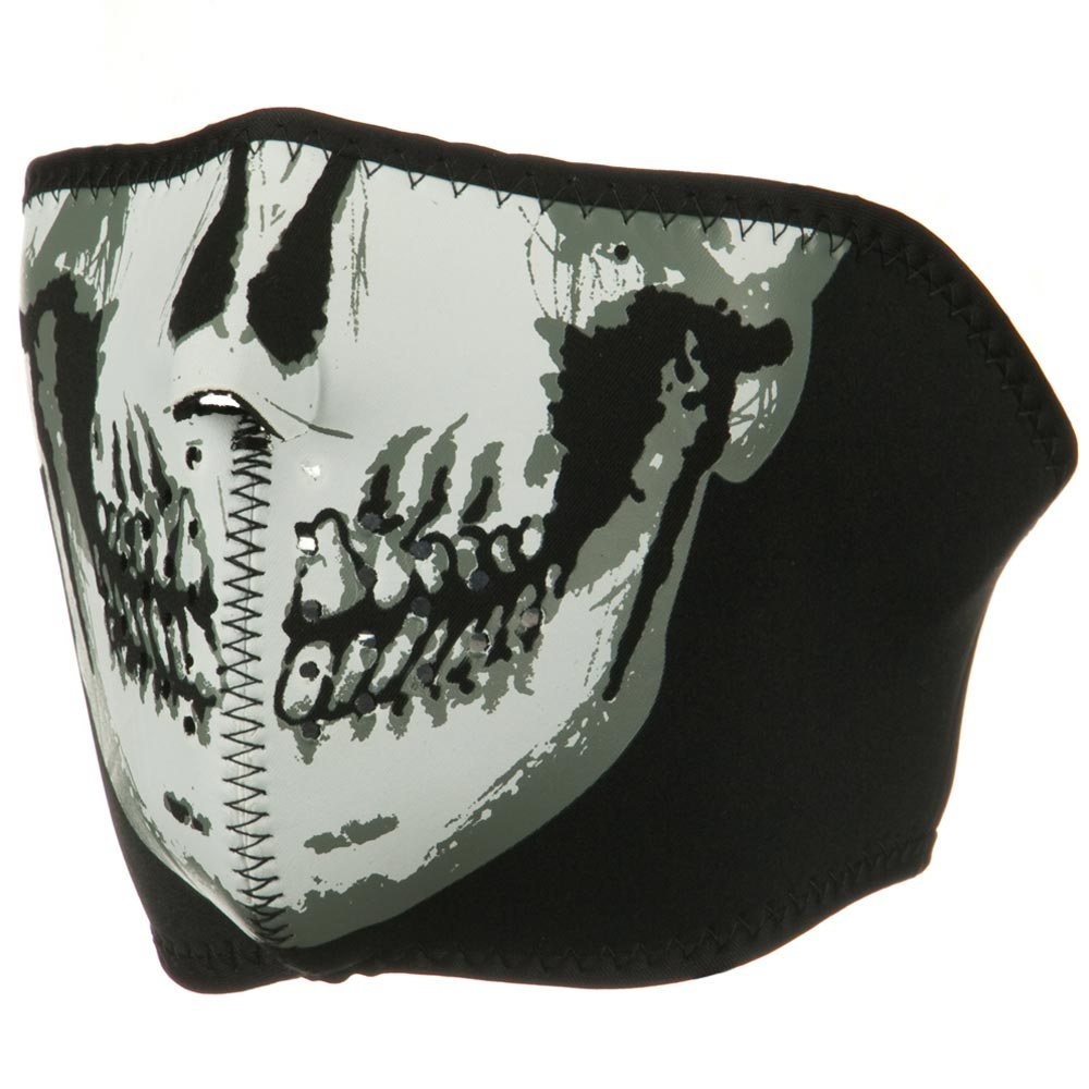 Oversized Neoprene Half Face Mask - Skull - Hats and Caps Online Shop - Hip Head Gear