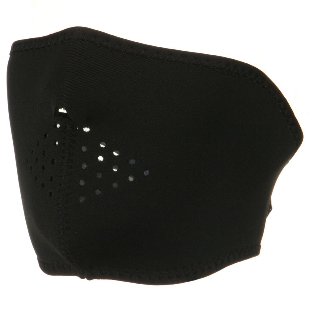 Oversized Neoprene Half Face Mask - Black