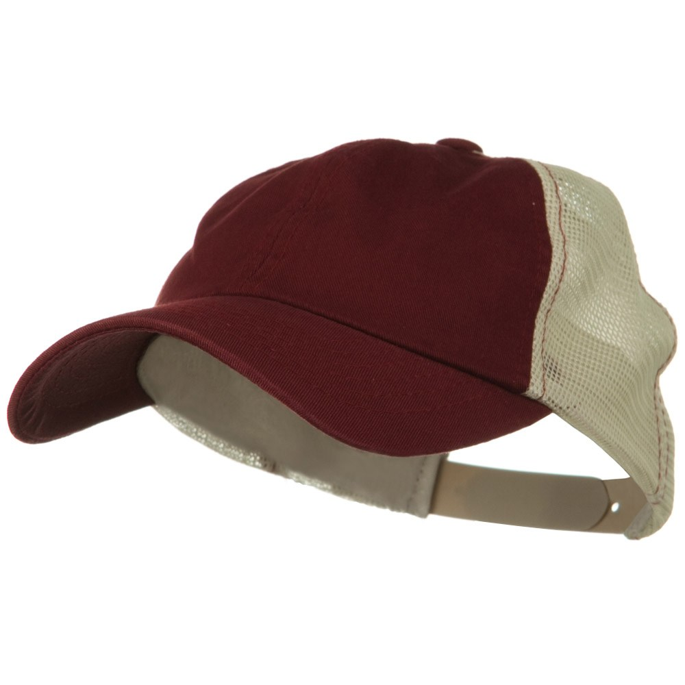 Earth Toned Washed Trucker Cap - Merlot Stone - Hats and Caps Online Shop - Hip Head Gear