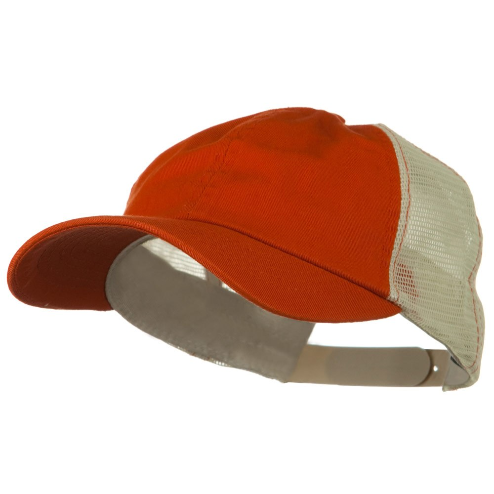 Earth Toned Washed Trucker Cap - Tangerine Stone