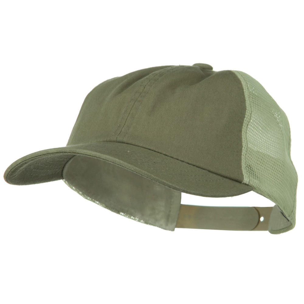 Earth Toned Washed Trucker Cap - Moss Stone - Hats and Caps Online Shop - Hip Head Gear