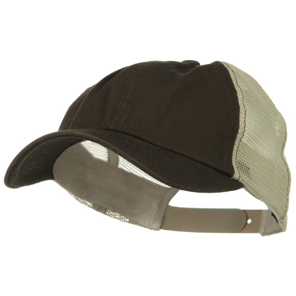 Earth Toned Washed Trucker Cap - Brown Stone - Hats and Caps Online Shop - Hip Head Gear