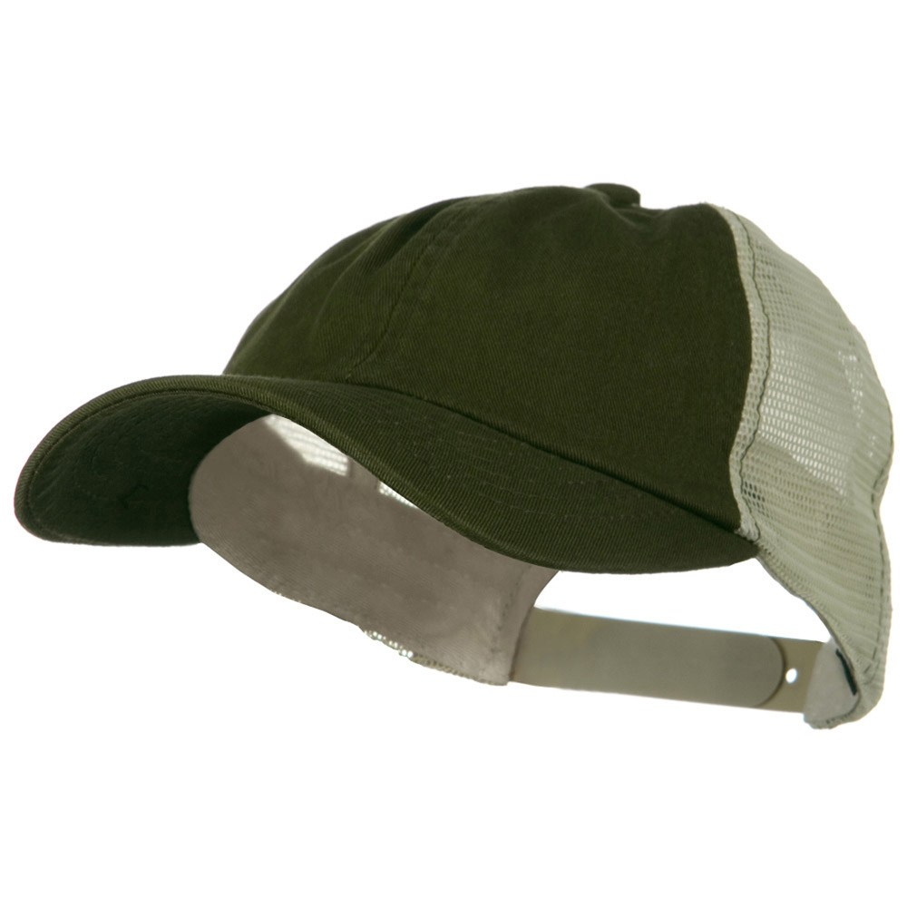 Earth Toned Washed Trucker Cap - Olive Stone - Hats and Caps Online Shop - Hip Head Gear