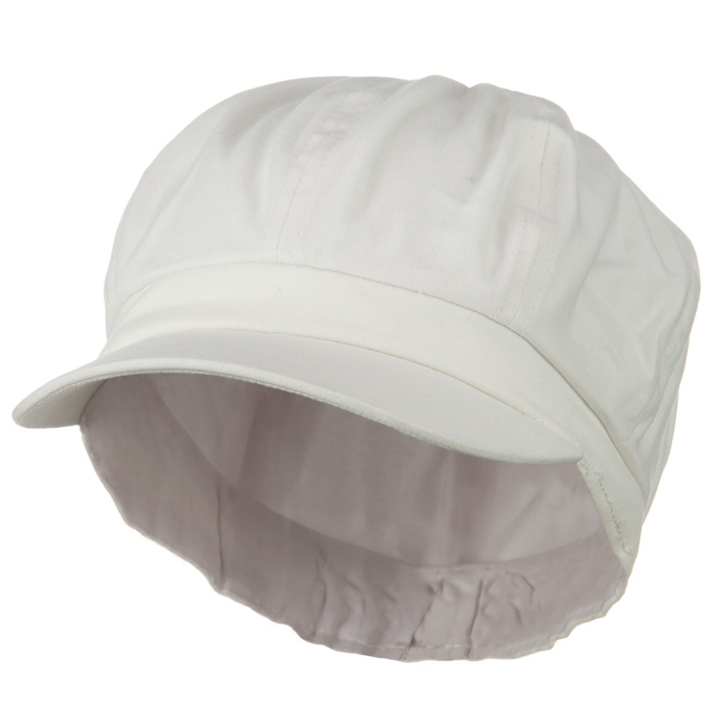 Cotton Elastic Newsboy Youth Cap - White - Hats and Caps Online Shop - Hip Head Gear