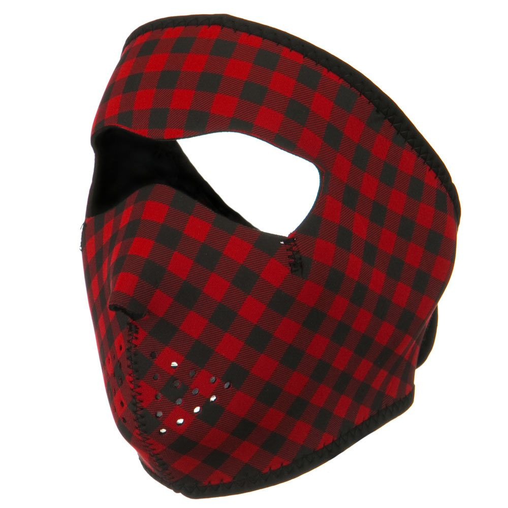 Neoprene Full Face Mask - Buffalo Plaid - Hats and Caps Online Shop - Hip Head Gear