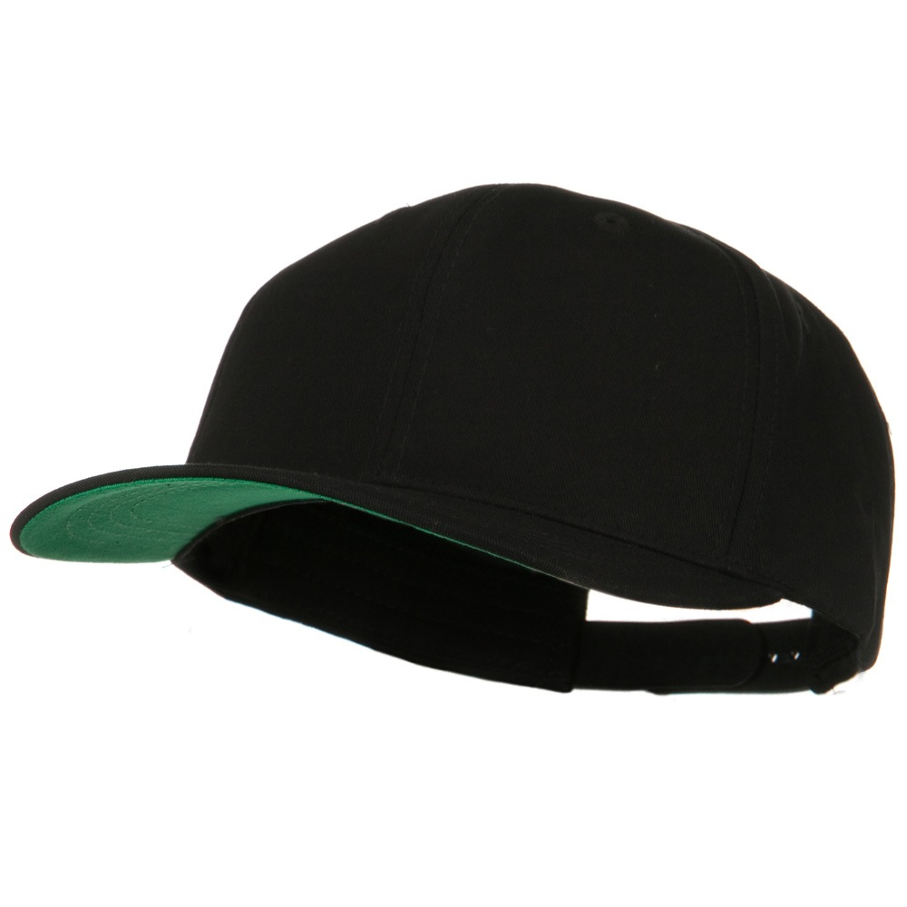 Brushed Cotton Twill High Profile Extra Size Cap - Black - Hats and Caps Online Shop - Hip Head Gear