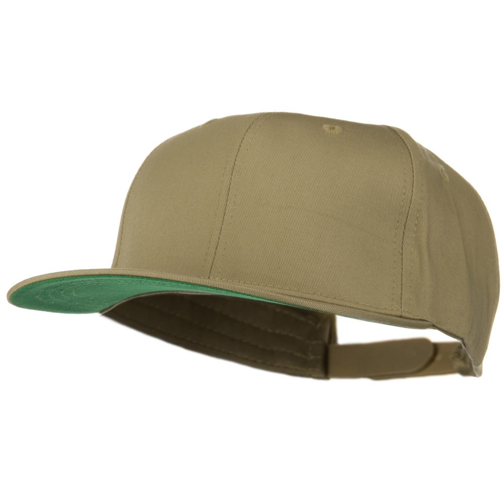 Brushed Cotton Twill High Profile Extra Size Cap - Khaki - Hats and Caps Online Shop - Hip Head Gear