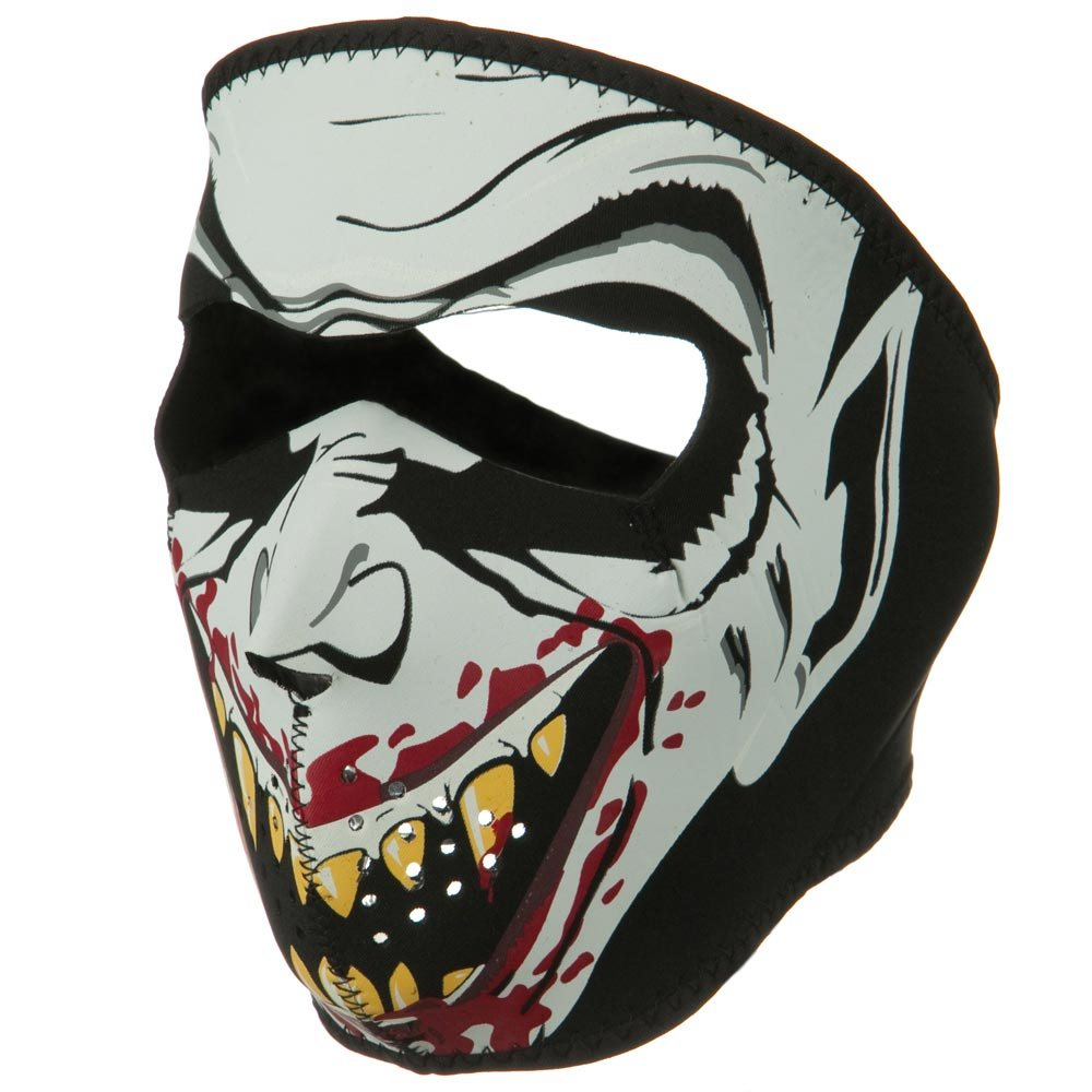 Neoprene Full Face Glow Mask - Glow in the dark Vampire - Hats and Caps Online Shop - Hip Head Gear