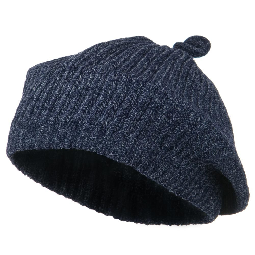 Chenille Knitted Cap - Navy - Hats and Caps Online Shop - Hip Head Gear