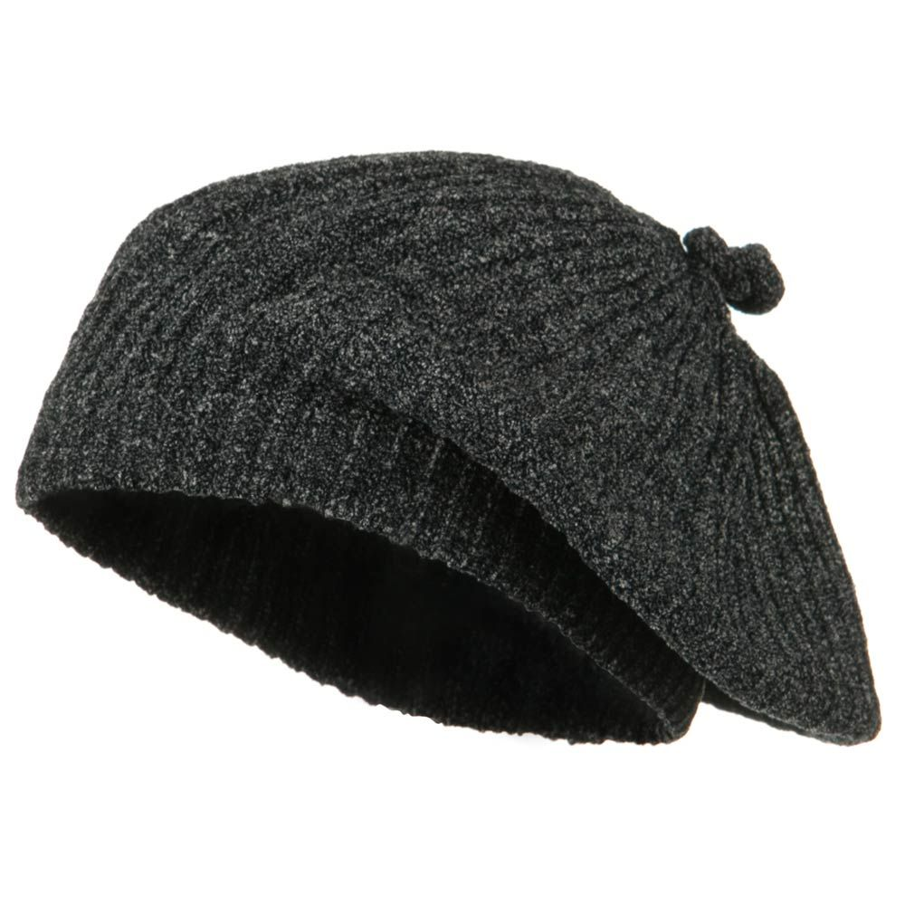 Chenille Knitted Cap - Black - Hats and Caps Online Shop - Hip Head Gear