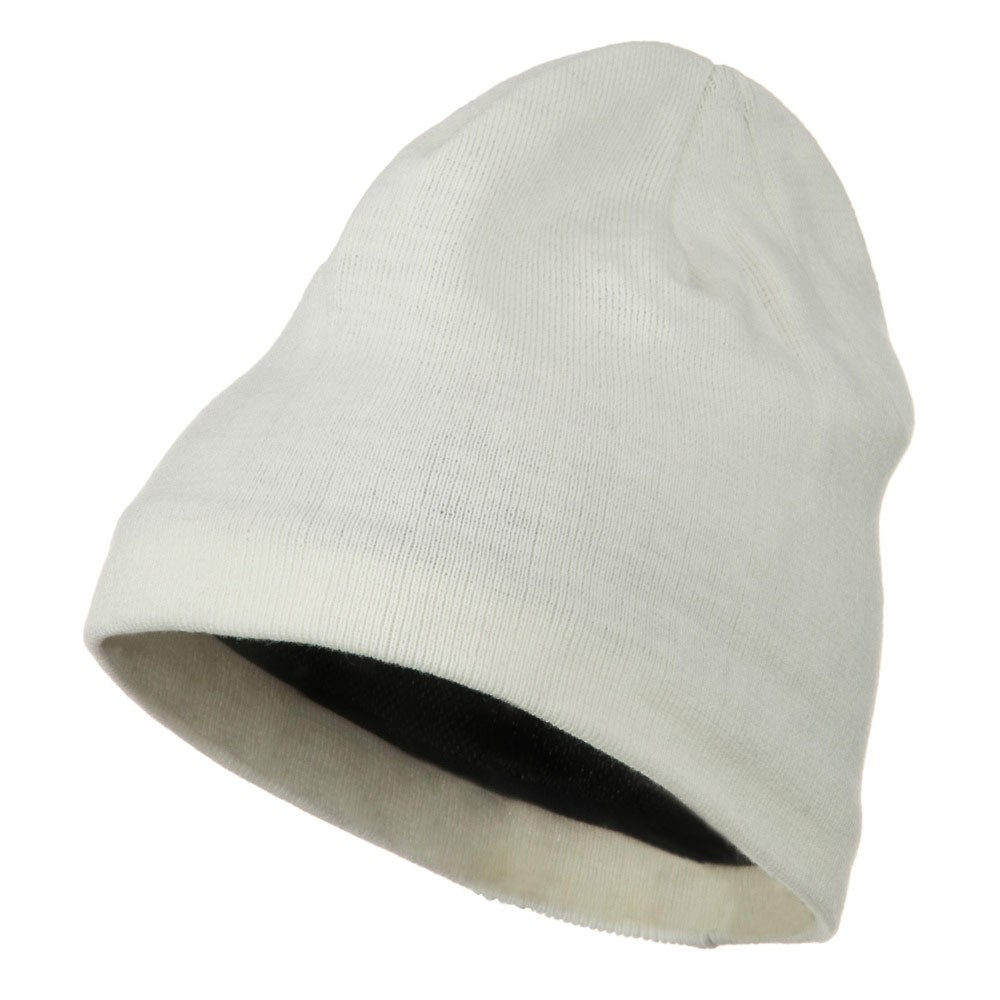 Cool Max Plain Color Beanie - White - Hats and Caps Online Shop - Hip Head Gear