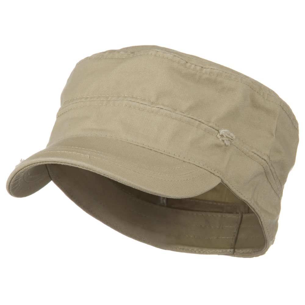 Star Cotton Army Cap-Khaki - Hats and Caps Online Shop - Hip Head Gear
