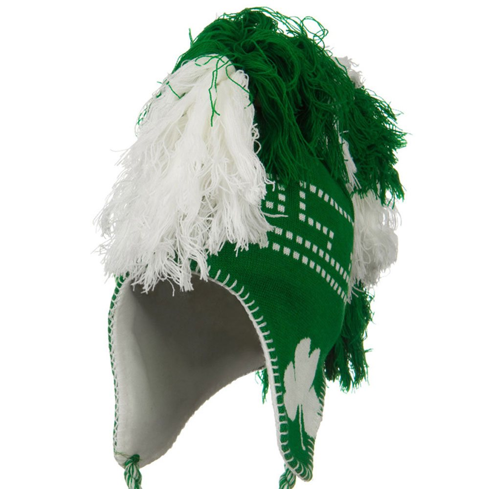 Mohawk Irish Jacquard Knit Hat - Kelly White - Hats and Caps Online Shop - Hip Head Gear