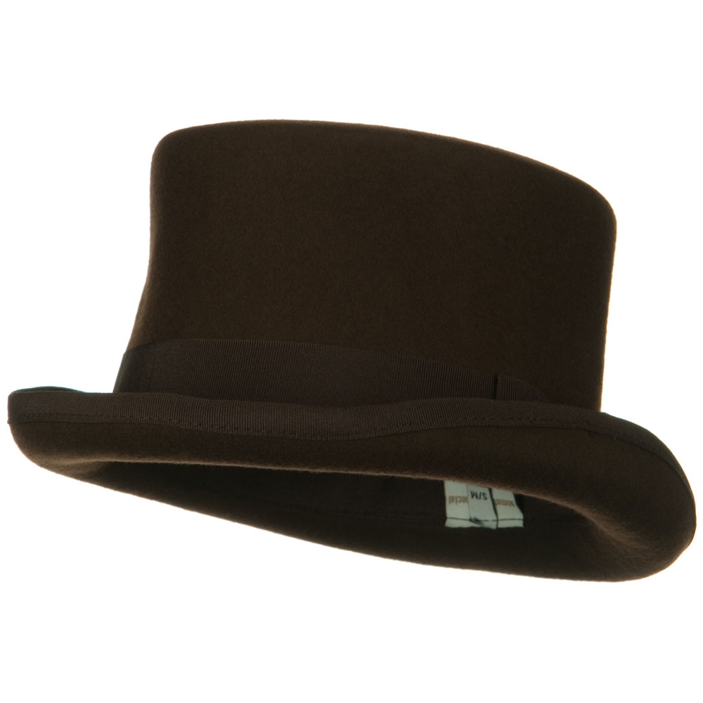 Classic Top Hat - Brown - Hats and Caps Online Shop - Hip Head Gear
