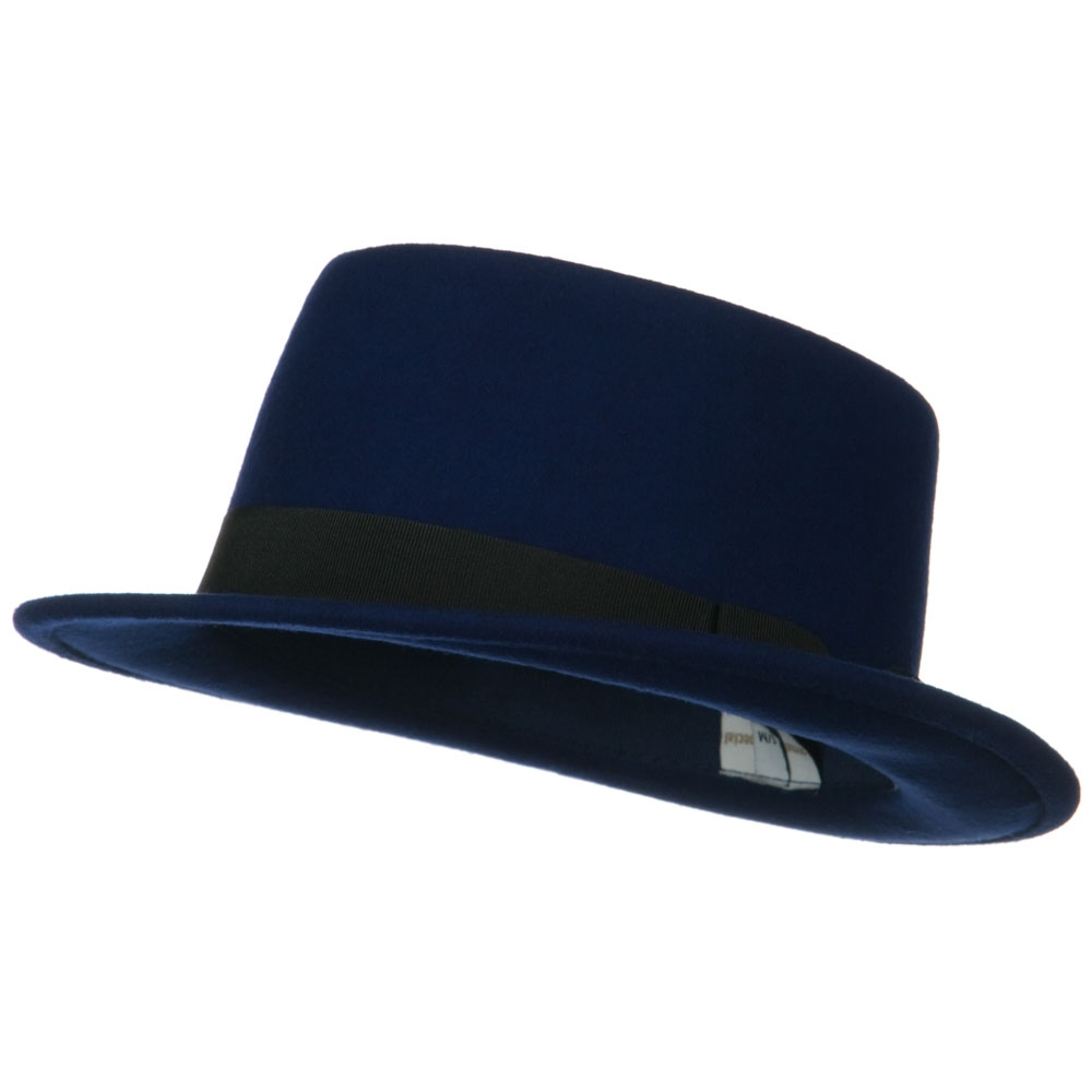Band Wool Boater Hat - Navy - Hats and Caps Online Shop - Hip Head Gear