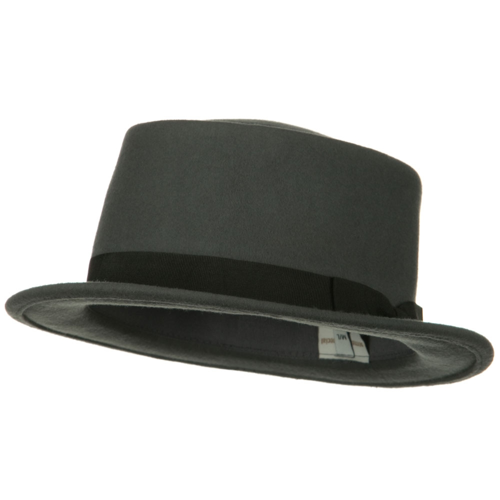 Band Wool Boater Hat - Light Grey - Hats and Caps Online Shop - Hip Head Gear
