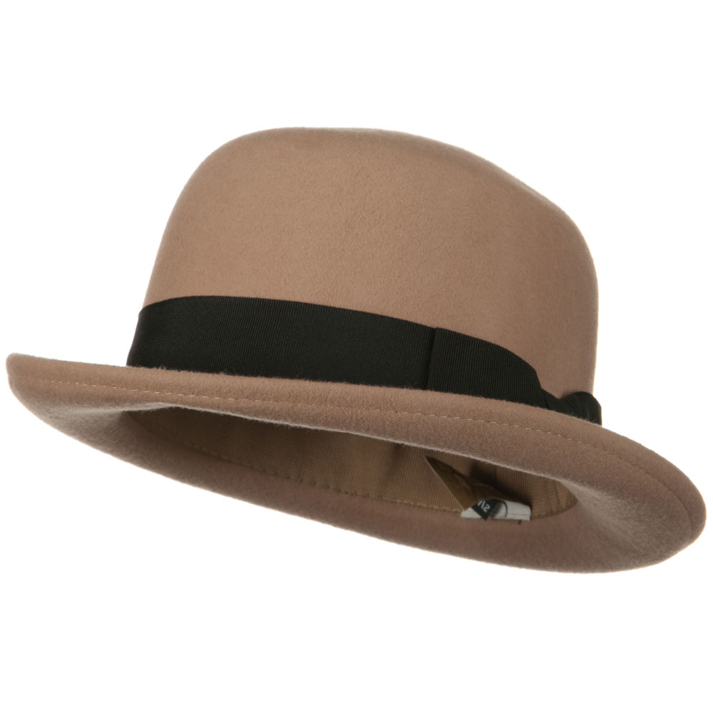 Wool Felt Bowler Hats - Camel - Hats and Caps Online Shop - Hip Head Gear