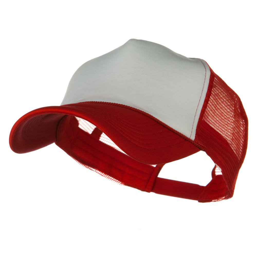 Big Foam Mesh Truck Cap - White Red - Hats and Caps Online Shop - Hip Head Gear