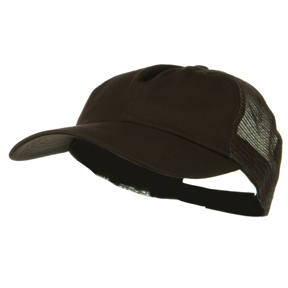 Big Size Low Profile Special Cotton Mesh Cap - Brown Brown - Hats and Caps Online Shop - Hip Head Gear