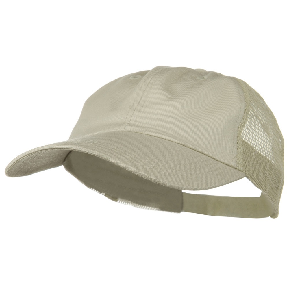 Big Size Low Profile Special Cotton Mesh Cap - Stone Stone - Hats and Caps Online Shop - Hip Head Gear