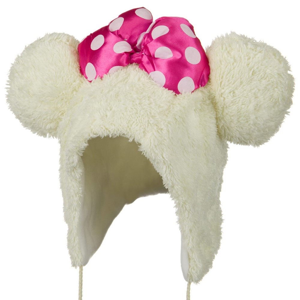 Micky Animal Hat - Beige Pink Ribbon - Hats and Caps Online Shop - Hip Head Gear