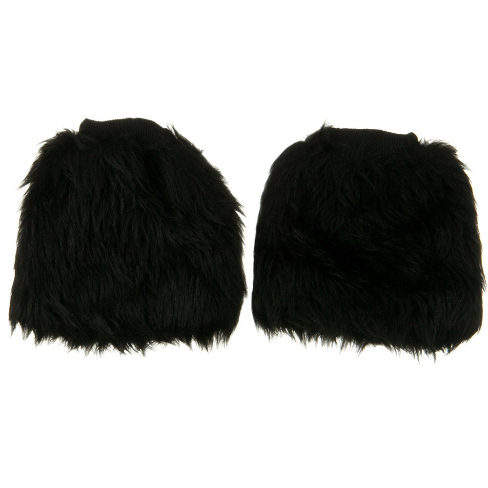 Critter Faux Fur Leg Warmer - Black