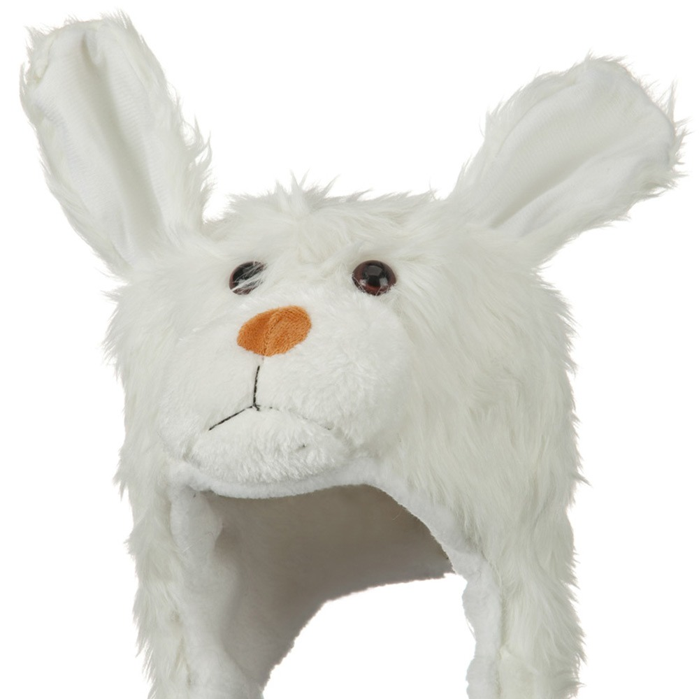 Fleece ML Animal Hat - White Dog - Hats and Caps Online Shop - Hip Head Gear