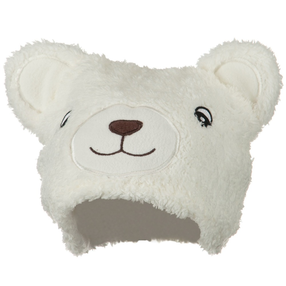 Bear Animal Hat - White - Hats and Caps Online Shop - Hip Head Gear