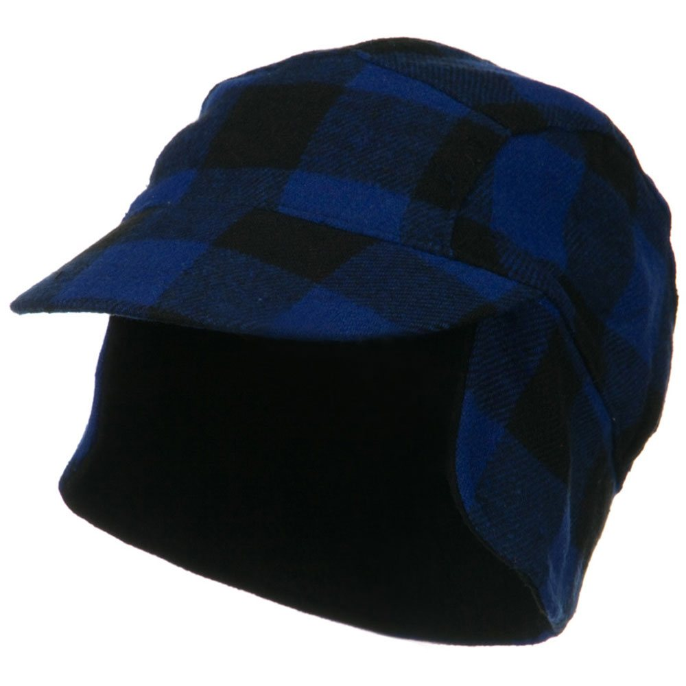 Fleece Lining Checker Trooper - Royal Plaid - Hats and Caps Online Shop - Hip Head Gear