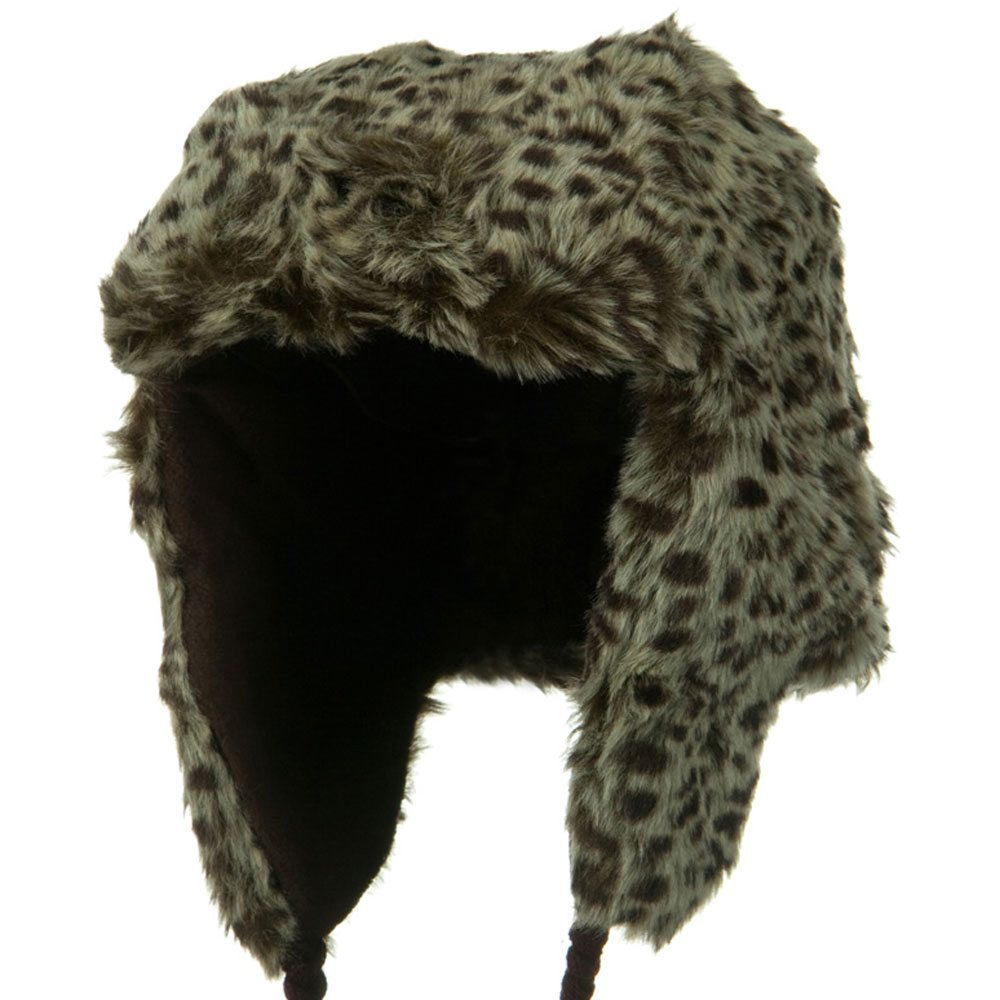 New Animal Fur Trooper Hat - Brown