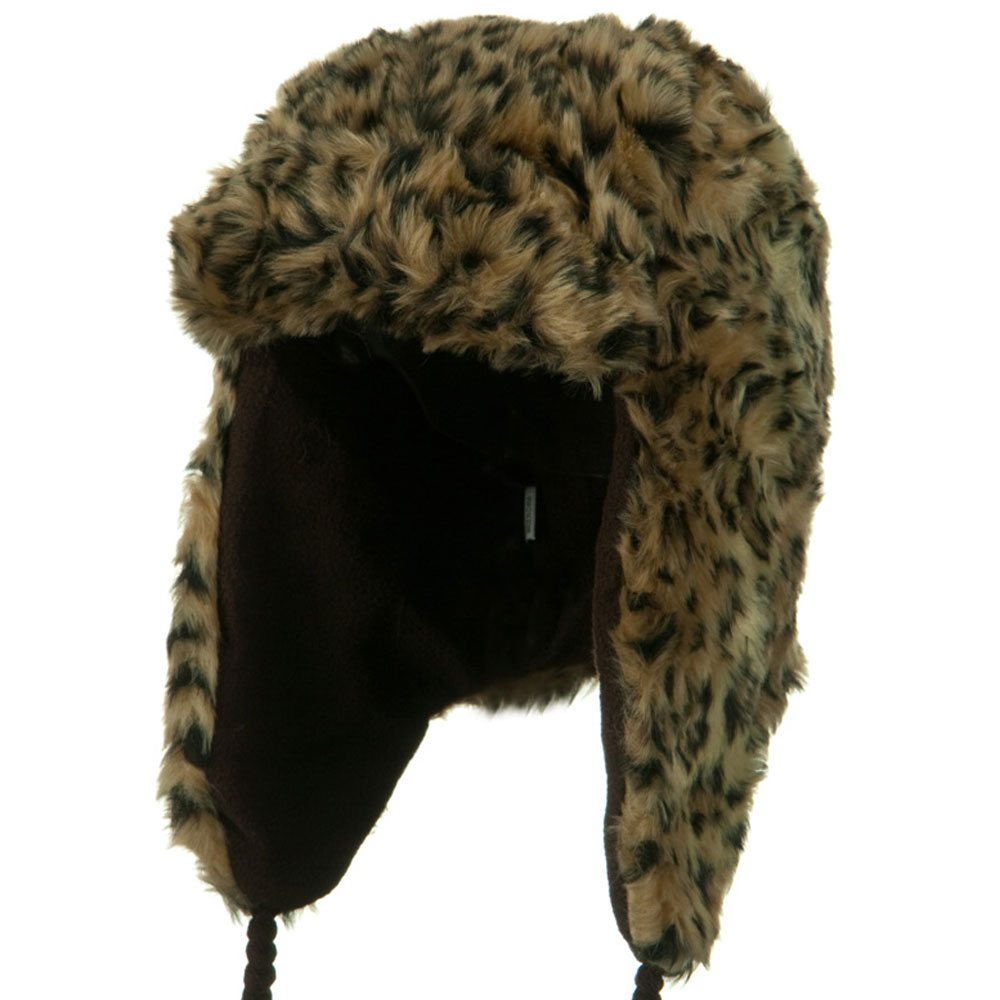 New Animal Fur Trooper Hat - Khaki