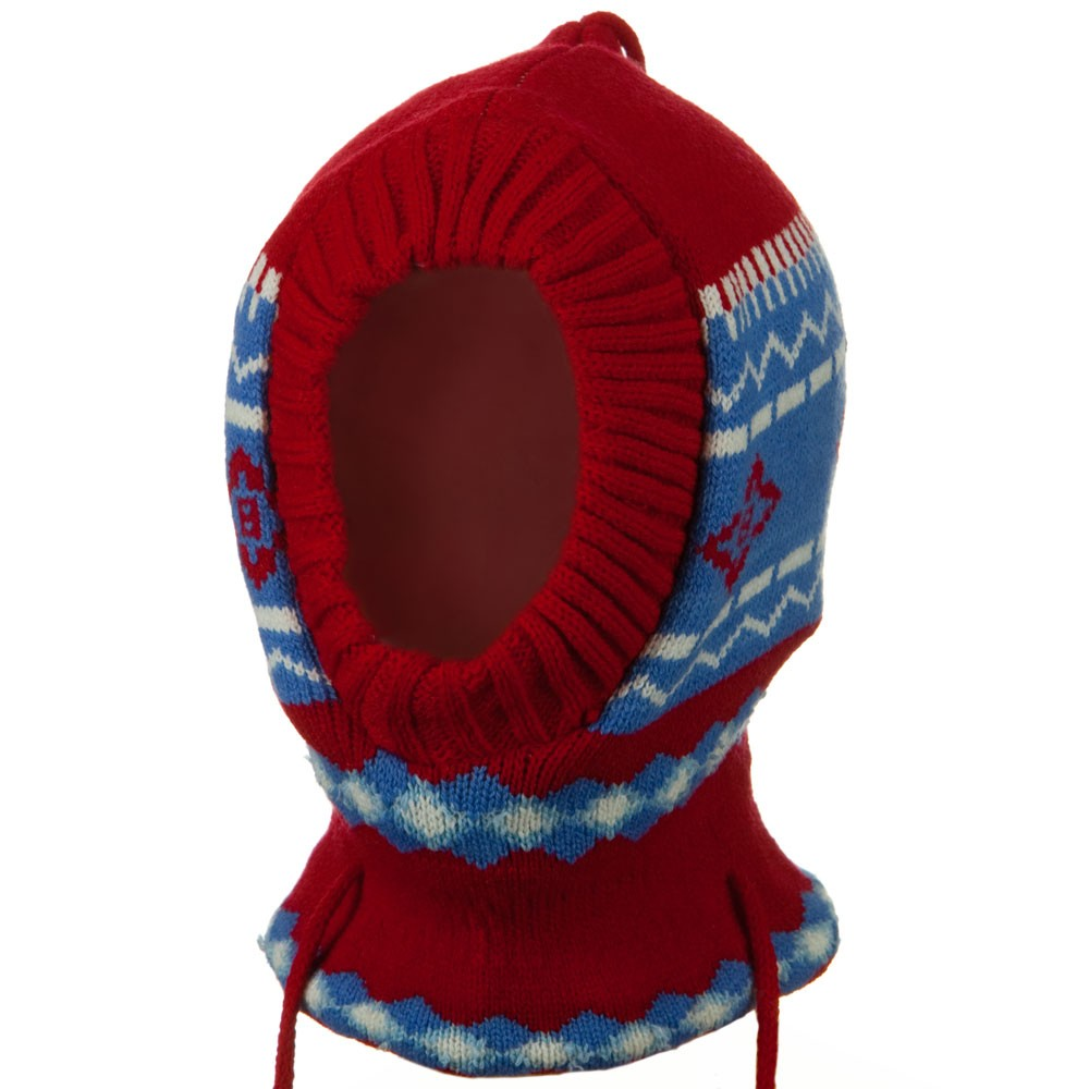 Children Zigzag Pattern Ski Mask - Red - Hats and Caps Online Shop - Hip Head Gear