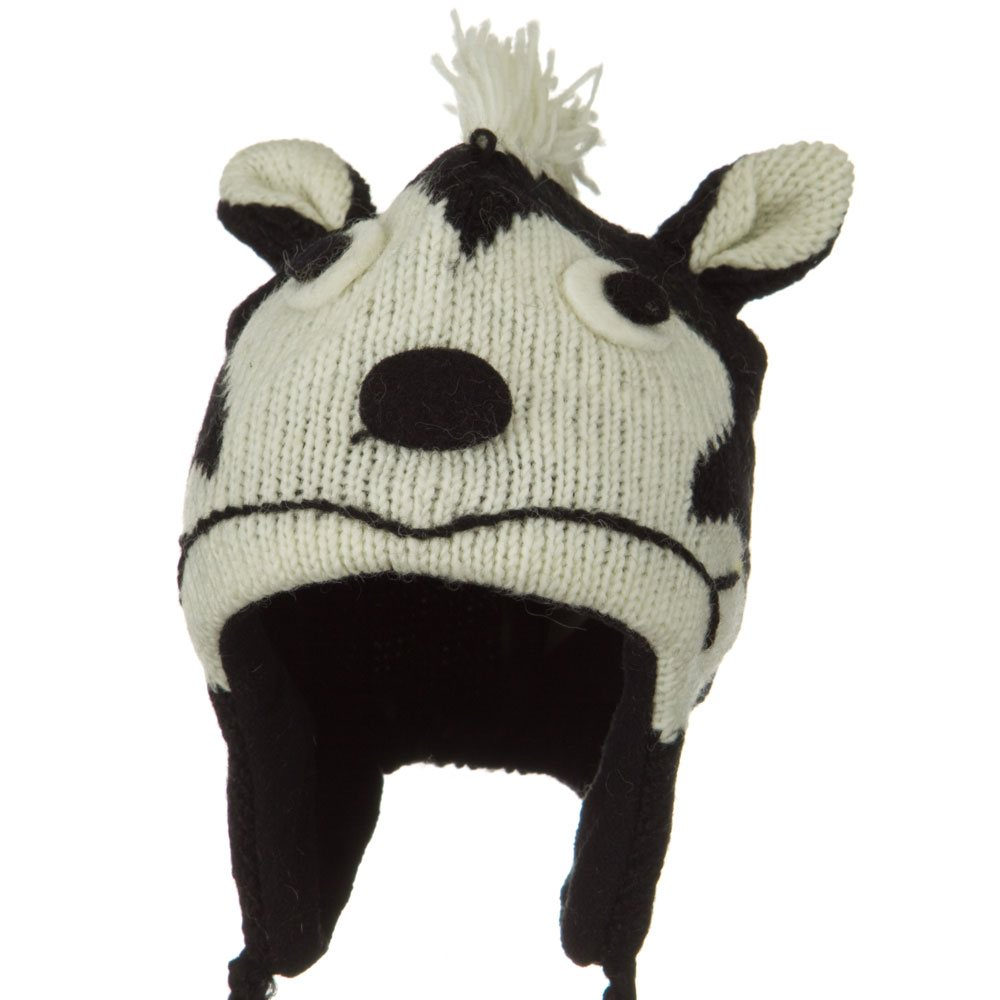 Adult Animal Wool Ski Beanie - Skunk - Hats and Caps Online Shop - Hip Head Gear