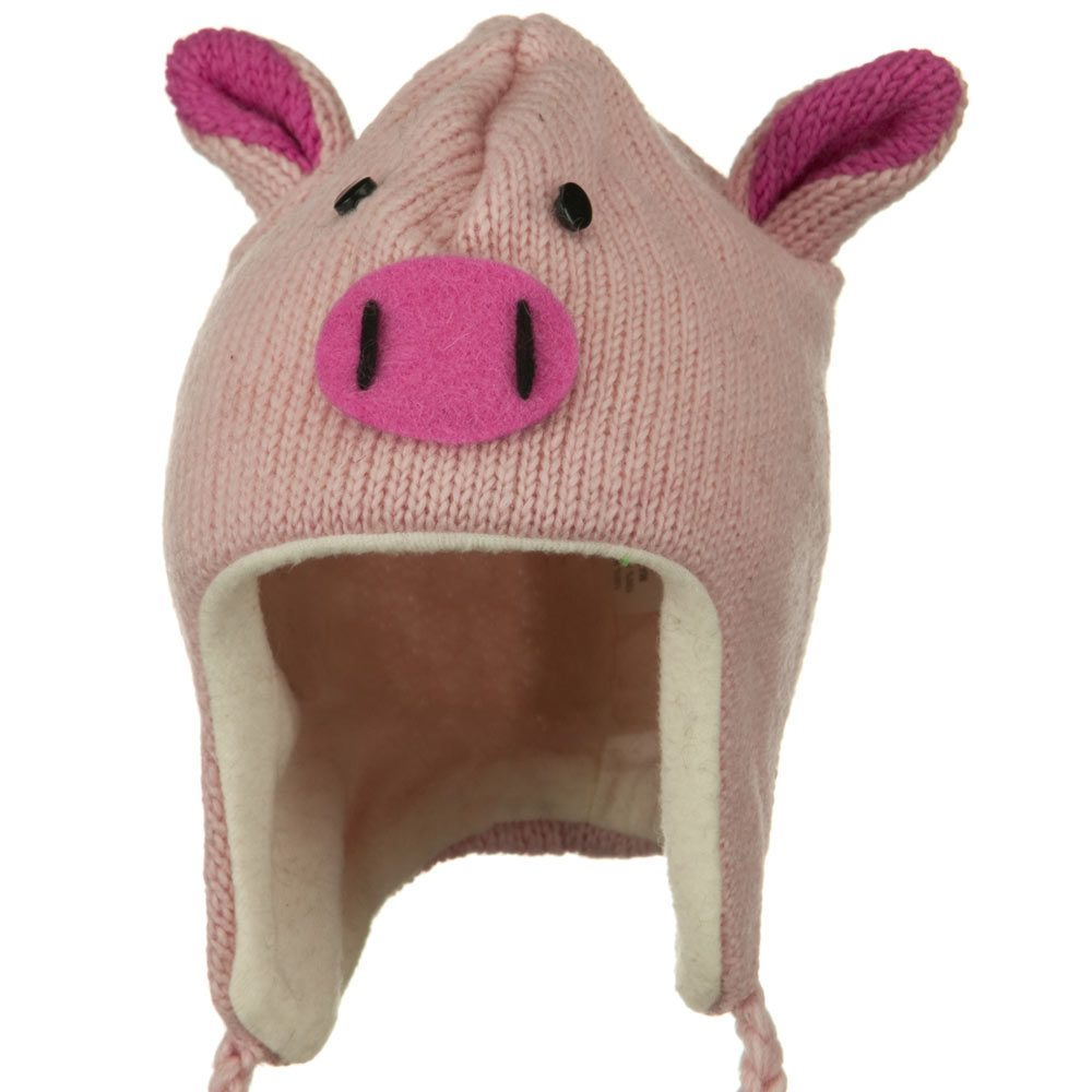 Adult Animal Wool Ski Beanie - Piggy - Hats and Caps Online Shop - Hip Head Gear