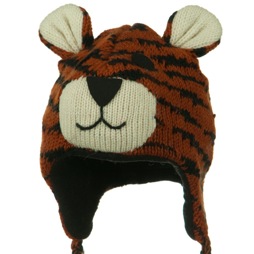 Adult Animal Wool Ski Beanie - Tiger - Hats and Caps Online Shop - Hip Head Gear