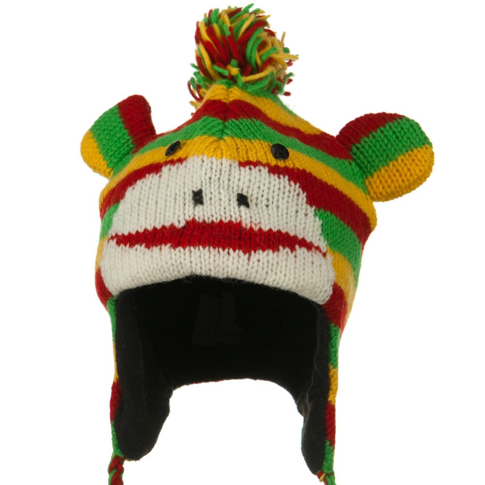 Adult Animal Wool Ski Beanie - Rasta Monkey - Hats and Caps Online Shop - Hip Head Gear