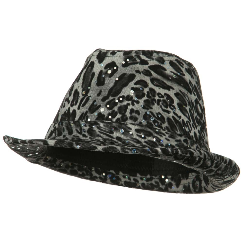 Animal Glitter Fedora - Black - Hats and Caps Online Shop - Hip Head Gear