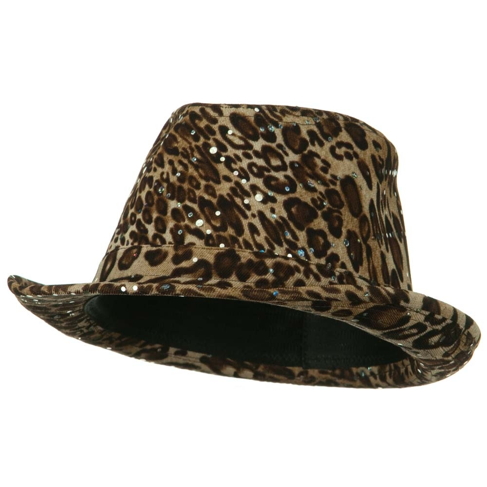 Animal Glitter Fedora - Tan - Hats and Caps Online Shop - Hip Head Gear