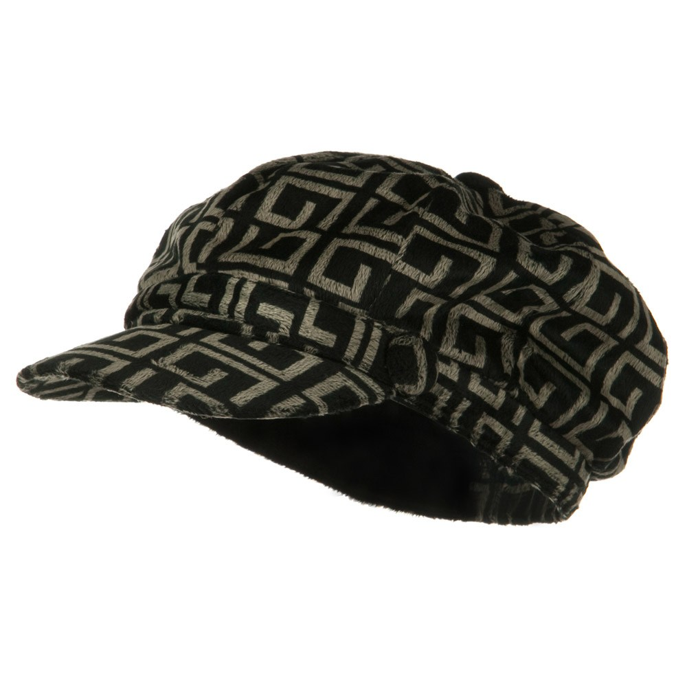 Animal Print Fur Newsboy Hat - G Print - Hats and Caps Online Shop - Hip Head Gear