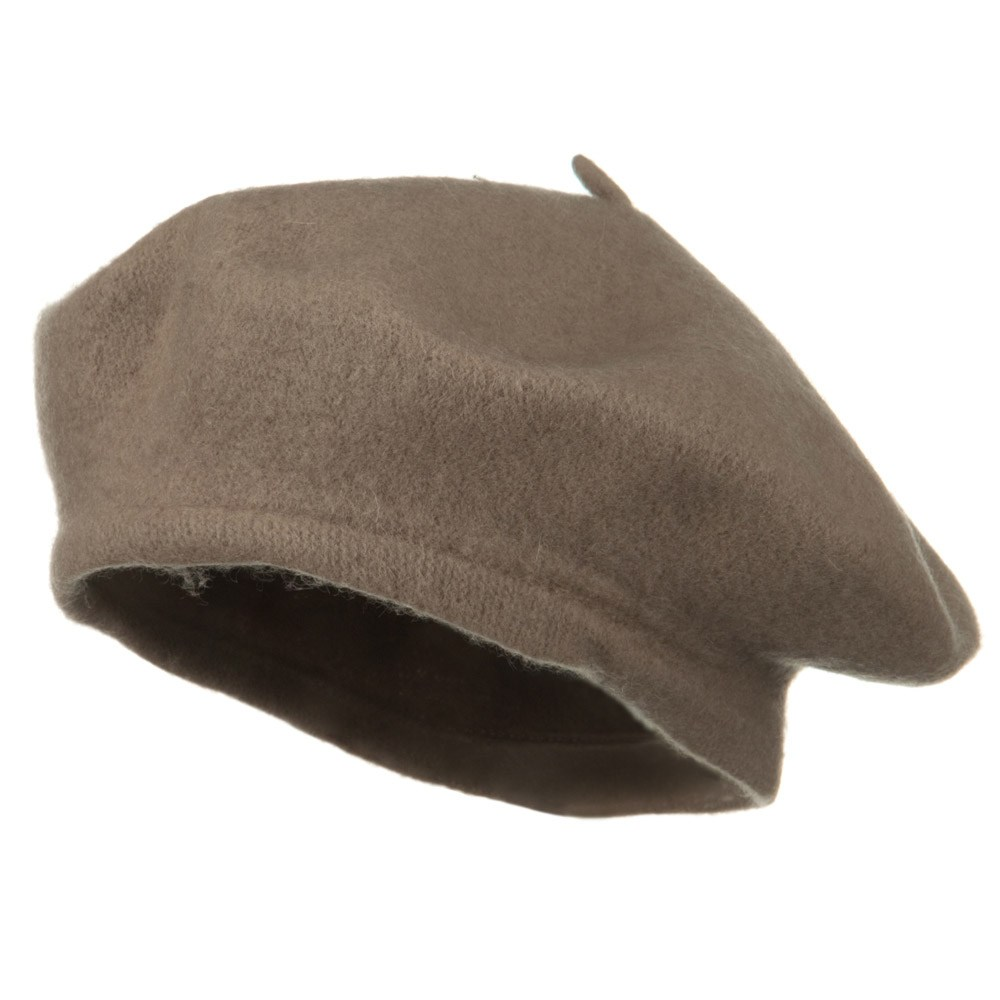 Wool Beret-Light Grey - Hats and Caps Online Shop - Hip Head Gear