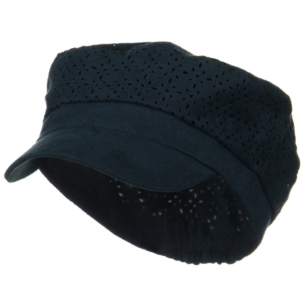 Laser Cut Crown Military Cap - Navy - Hats and Caps Online Shop - Hip Head Gear