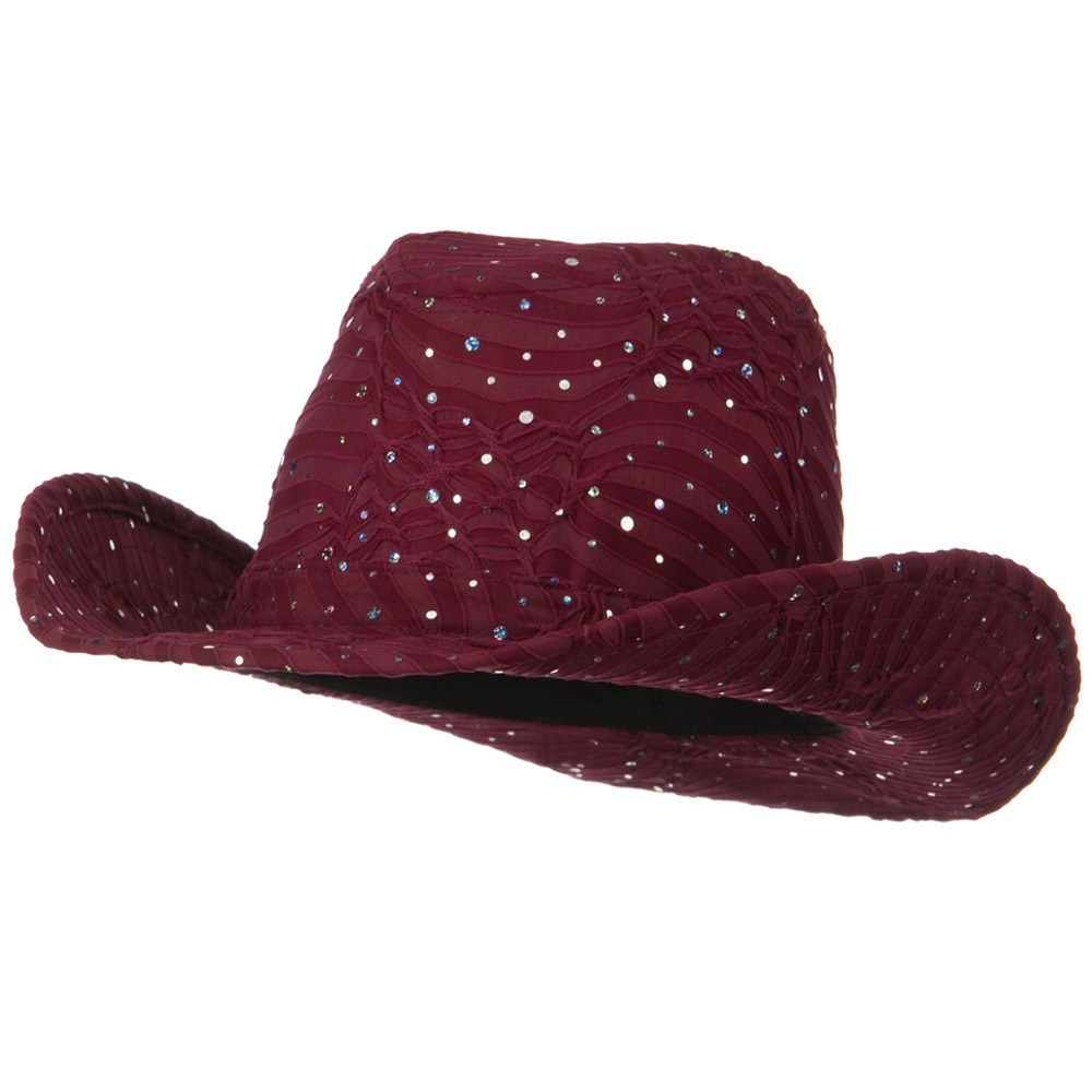 Glitter Cowboy Hat - Wine - Hats and Caps Online Shop - Hip Head Gear