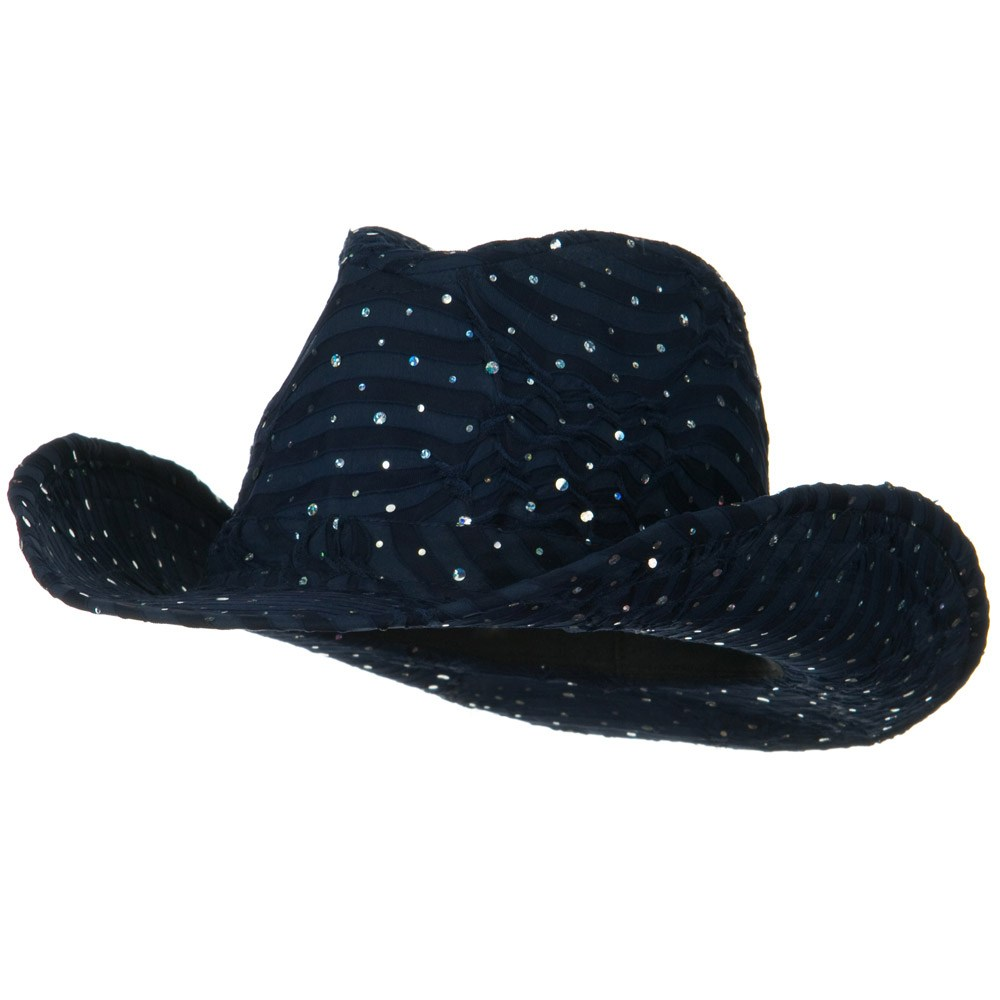 Glitter Cowboy Hat - Navy - Hats and Caps Online Shop - Hip Head Gear