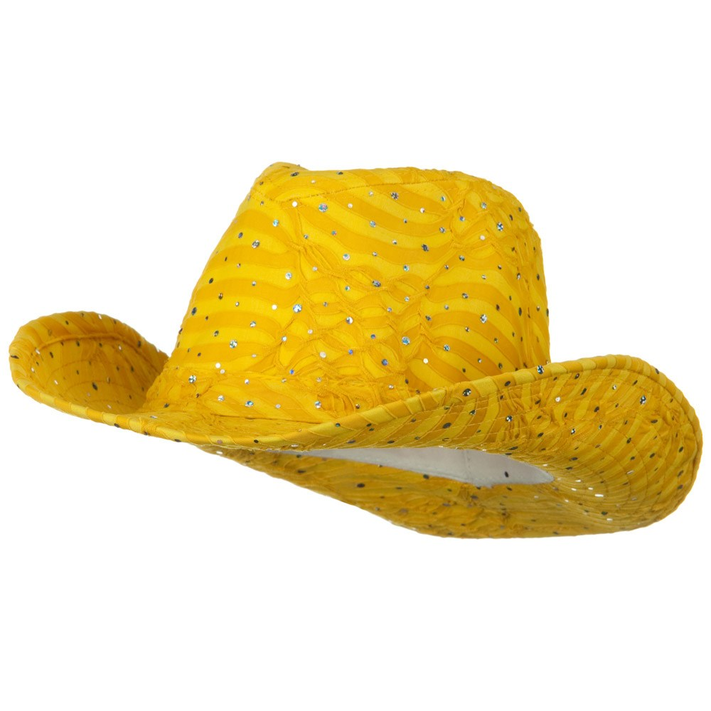 Glitter Cowboy Hat - Yellow - Hats and Caps Online Shop - Hip Head Gear
