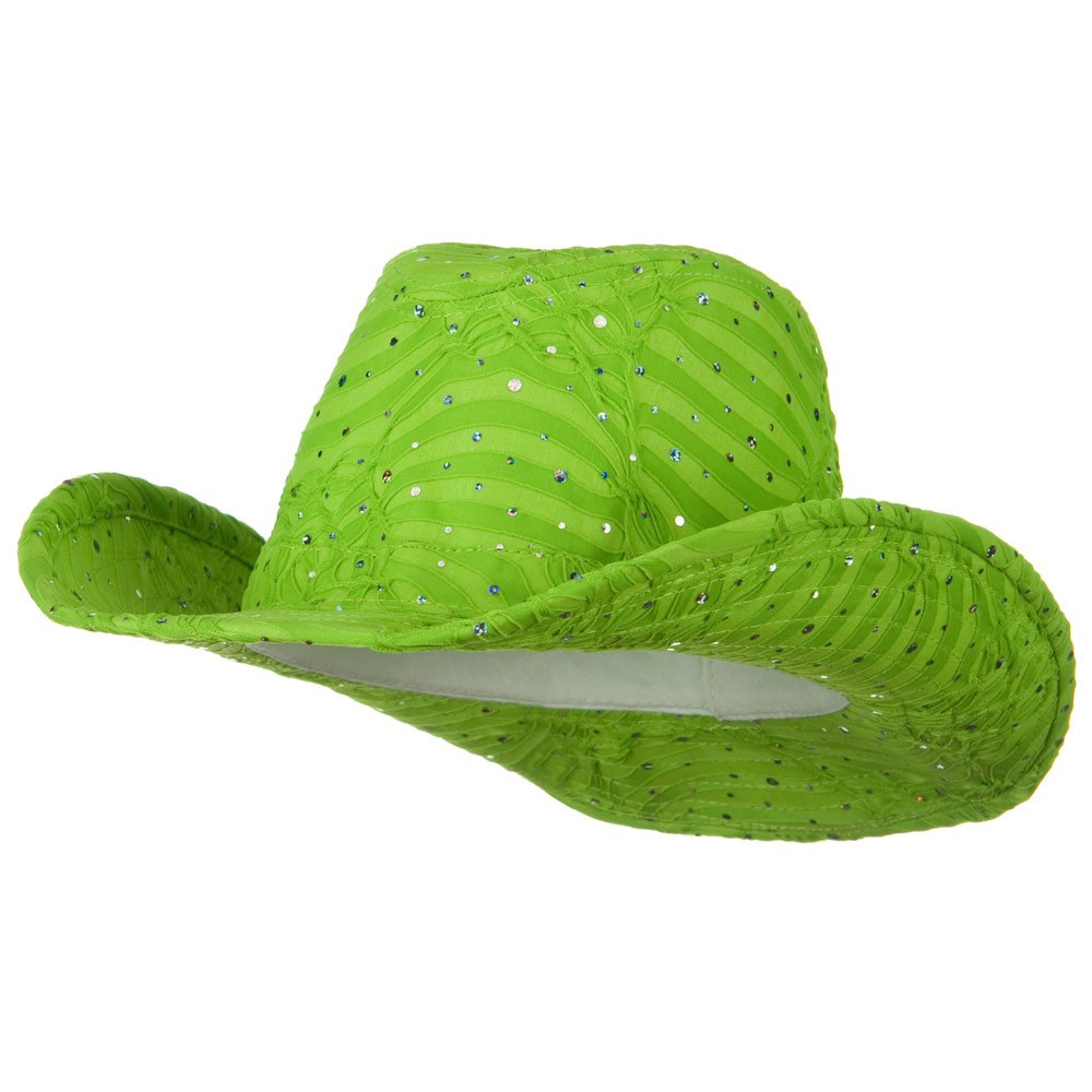 Glitter Cowboy Hat - Lime - Hats and Caps Online Shop - Hip Head Gear