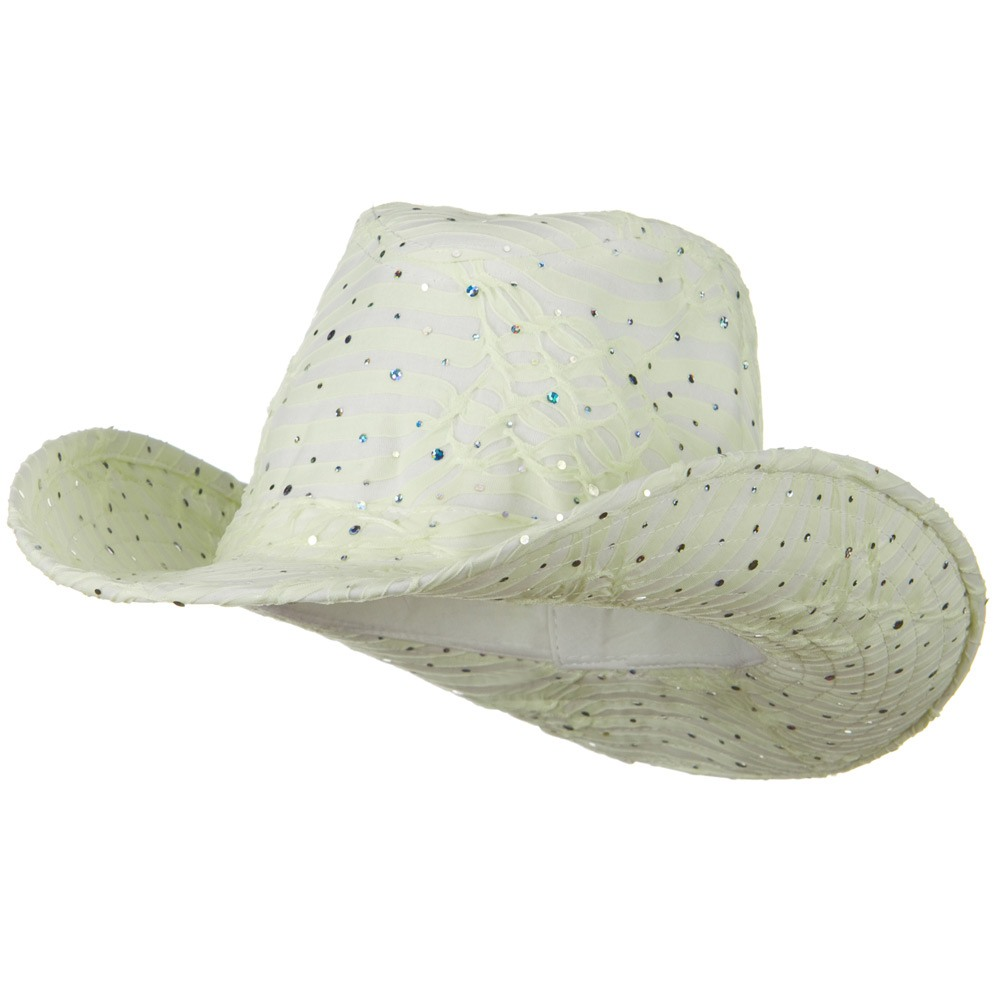 Glitter Cowboy Hat - Ivory - Hats and Caps Online Shop - Hip Head Gear