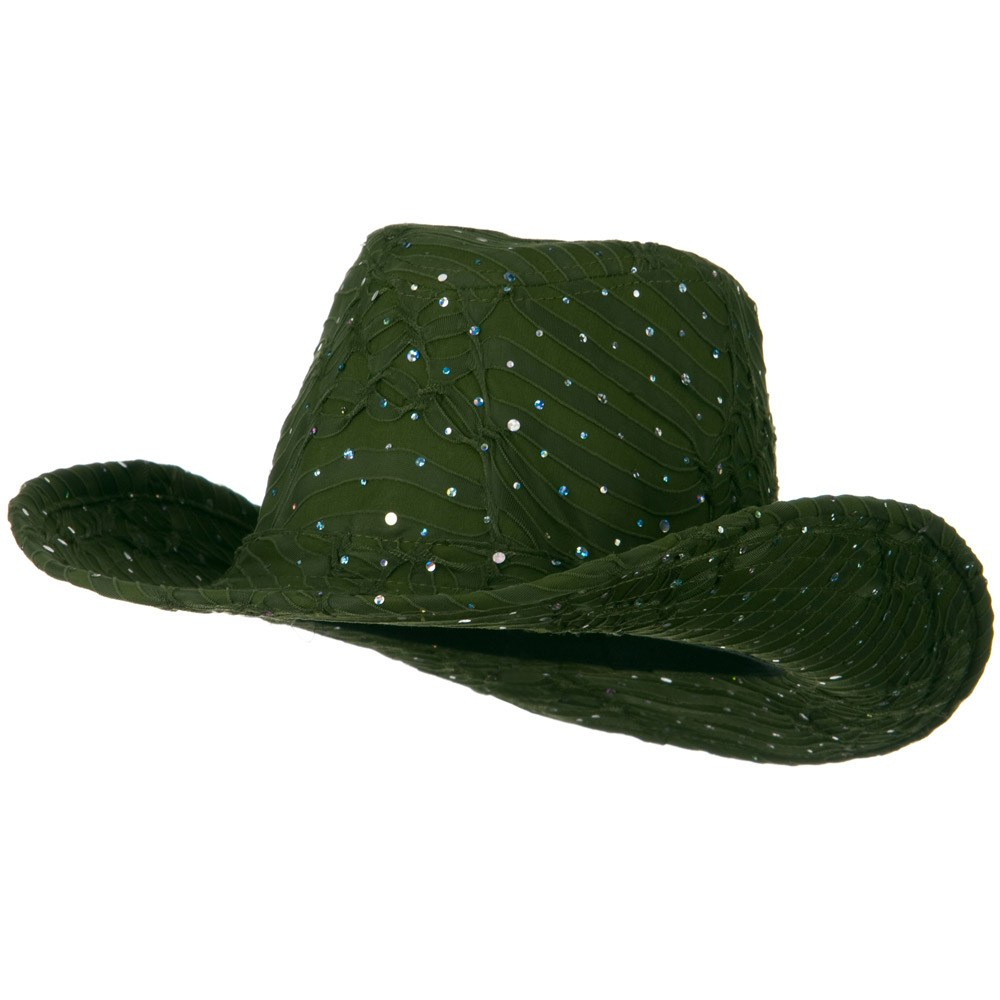 Glitter Cowboy Hat - Olive - Hats and Caps Online Shop - Hip Head Gear