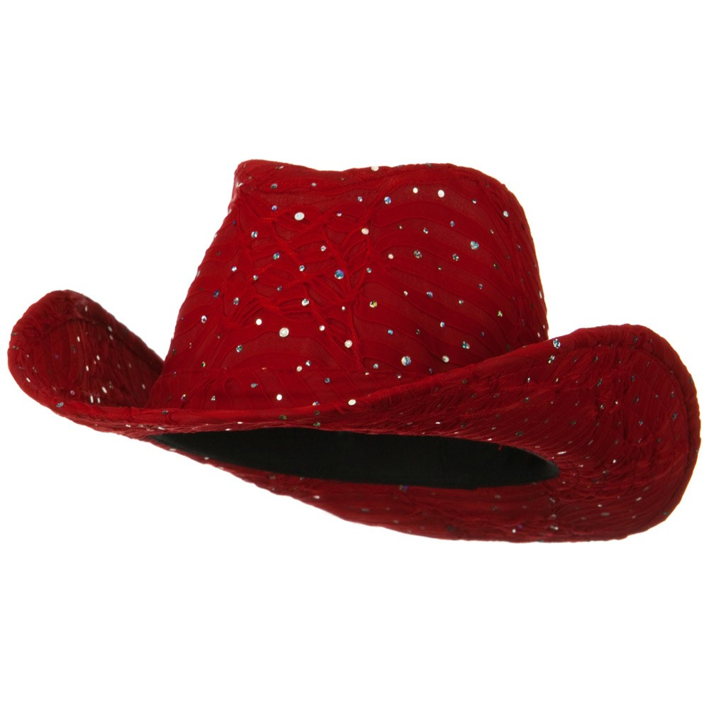 Glitter Cowboy Hat - Red - Hats and Caps Online Shop - Hip Head Gear