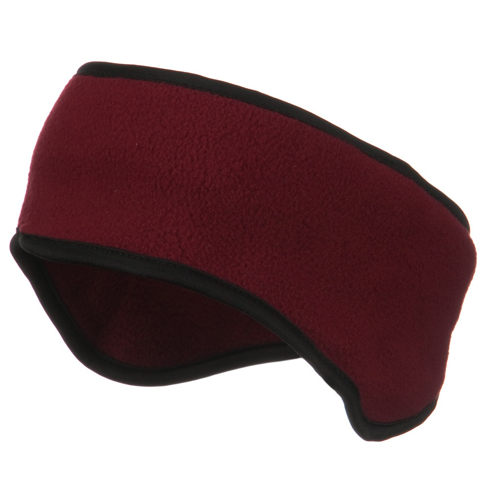 Adjustable Fleece Head Band - Burgundy - Hats and Caps Online Shop - Hip Head Gear