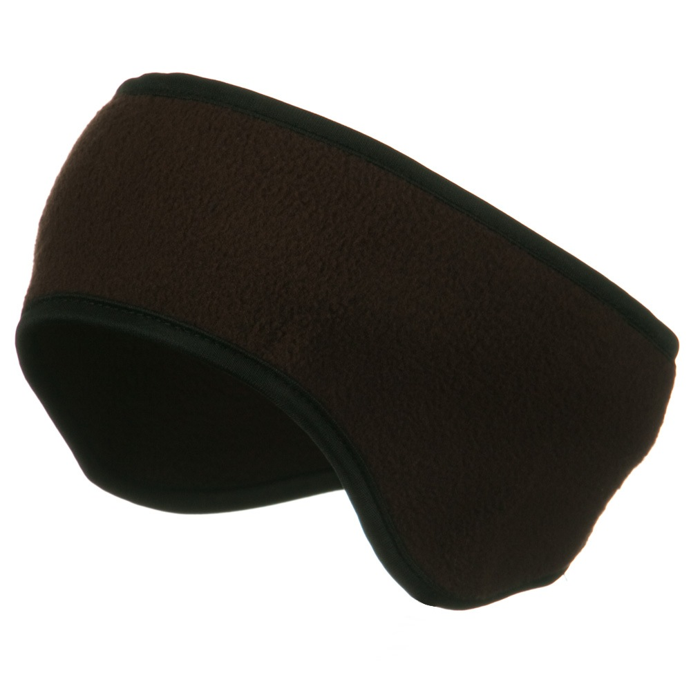 Adjustable Fleece Head Band - Brown - Hats and Caps Online Shop - Hip Head Gear